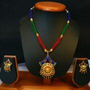 Ethnic Japi Pepa Necklace With Earings