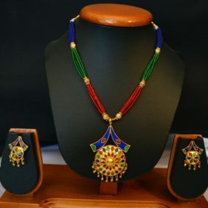 Ethnic Japi Pepa Necklace With Earings