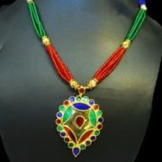 Ethnic Dugdugi Minakari Necklace