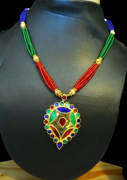 Ethnic Dugdugi Minakari Necklace