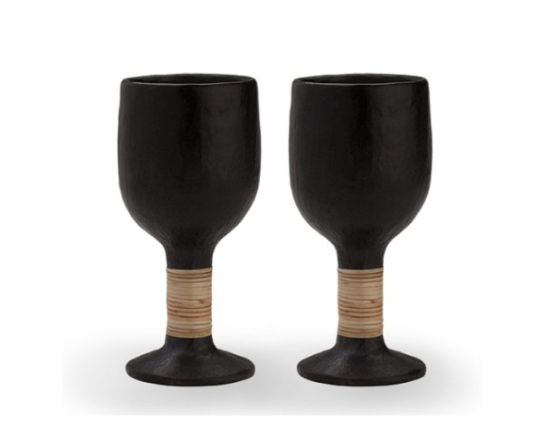 Designer Black Stone Premium Longpi Glass Set