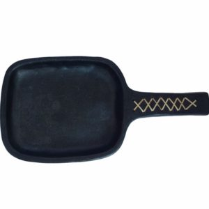Buy Online Earthenware Clay Serving Dish-Black Pottery