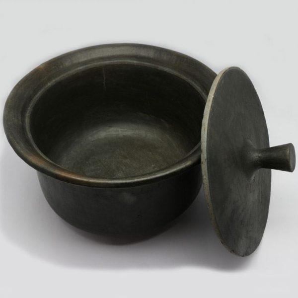 Buy Designer Hand Made Cooking Pot-Black Pottery