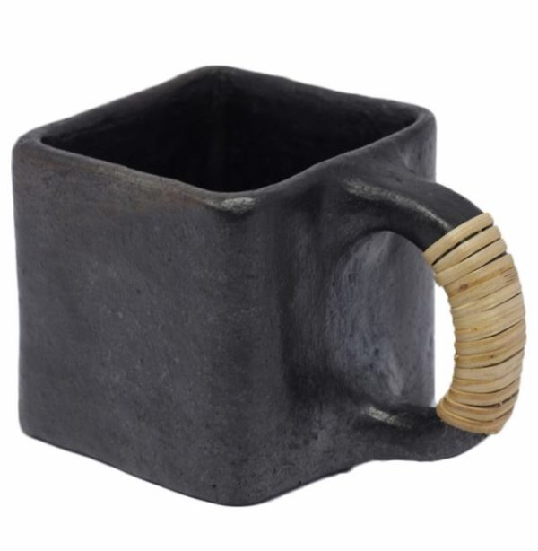 Buy Square Tea/Coffee Cup-Black Pottery