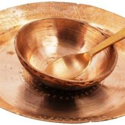 Ethnic Serving Dish With a Bowl-Bell Metal