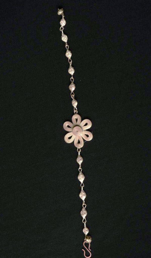 Handmade Cane and Bamboo Bracelet Flowery2
