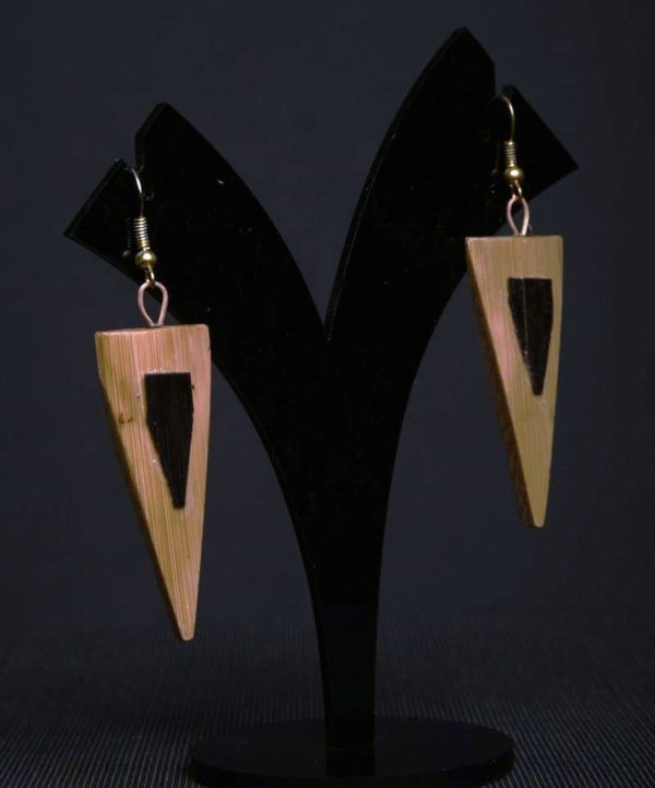 Handmade Cane and Bamboo Designer Earings