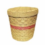 Eco friendly Water Reed Laundry Bag With Red Ring1
