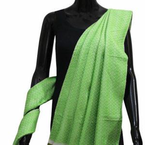 Buy Designer Handmade Silk Shawl-Lite Green Color