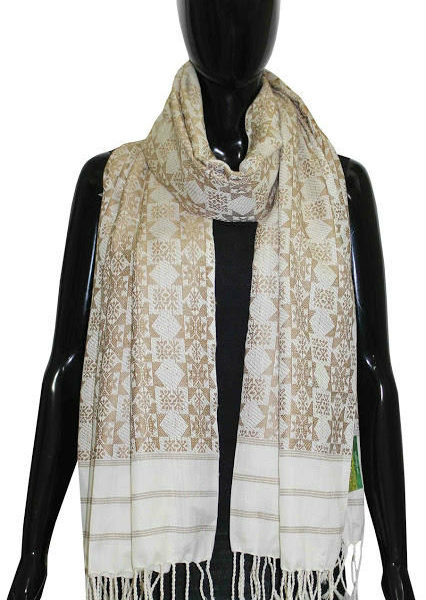 Buy Exotic Handwoven Silk Shawl With Heavy Work