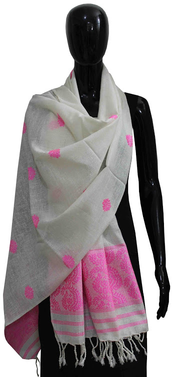 Buy 100% Genuine  Handwoven Eri Shawl With Simple Design and Color Online